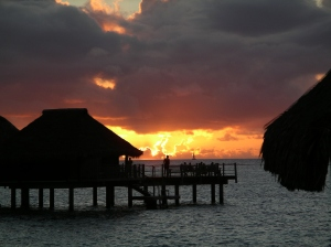 Sunset on Moorea -- 2006