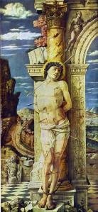 St. Sebastian -- Mantegna, c. 1455    Kunsthistoriches, Vienna