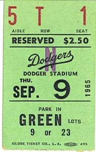 My ticket to the game -- they were cheaper then