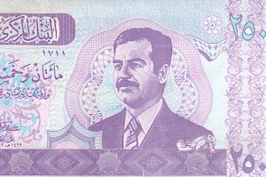 Even having his face on the money couldn't buy happiness for Saddam Hussein