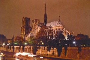A short walk from the restaurant was this view of Notre Dame