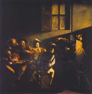 Michelangelo Merisi da Caravaggio, The Calling of St. Matthew (1599)
