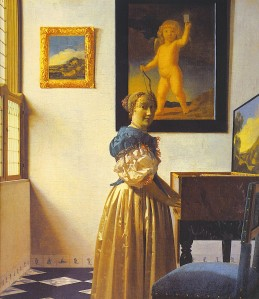 Johannes Vermeer, A Lady Standing At The Virginal (c. 1672)
