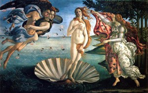 Sandro Botticelli, The Birth of Venus (c. 1482)  Uffizi Gallery, Florence