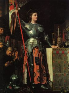"J.A.D. Ingres, ""Joan of  Arc at the Coronation of King Charles VII in Reims Cathedral"" (1854) -- The Louvre, Paris"