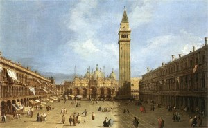 Canaletto, Piazza San Marco (1720s) -- Metropolitan Museum of Art, New York