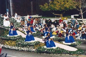 Years later, I scored seats in the grandstand at the Rose Parade.